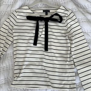 J. Crew black and white stripped top